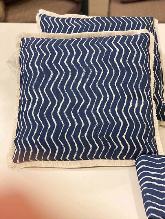 Square Pillows + Brush Fringe