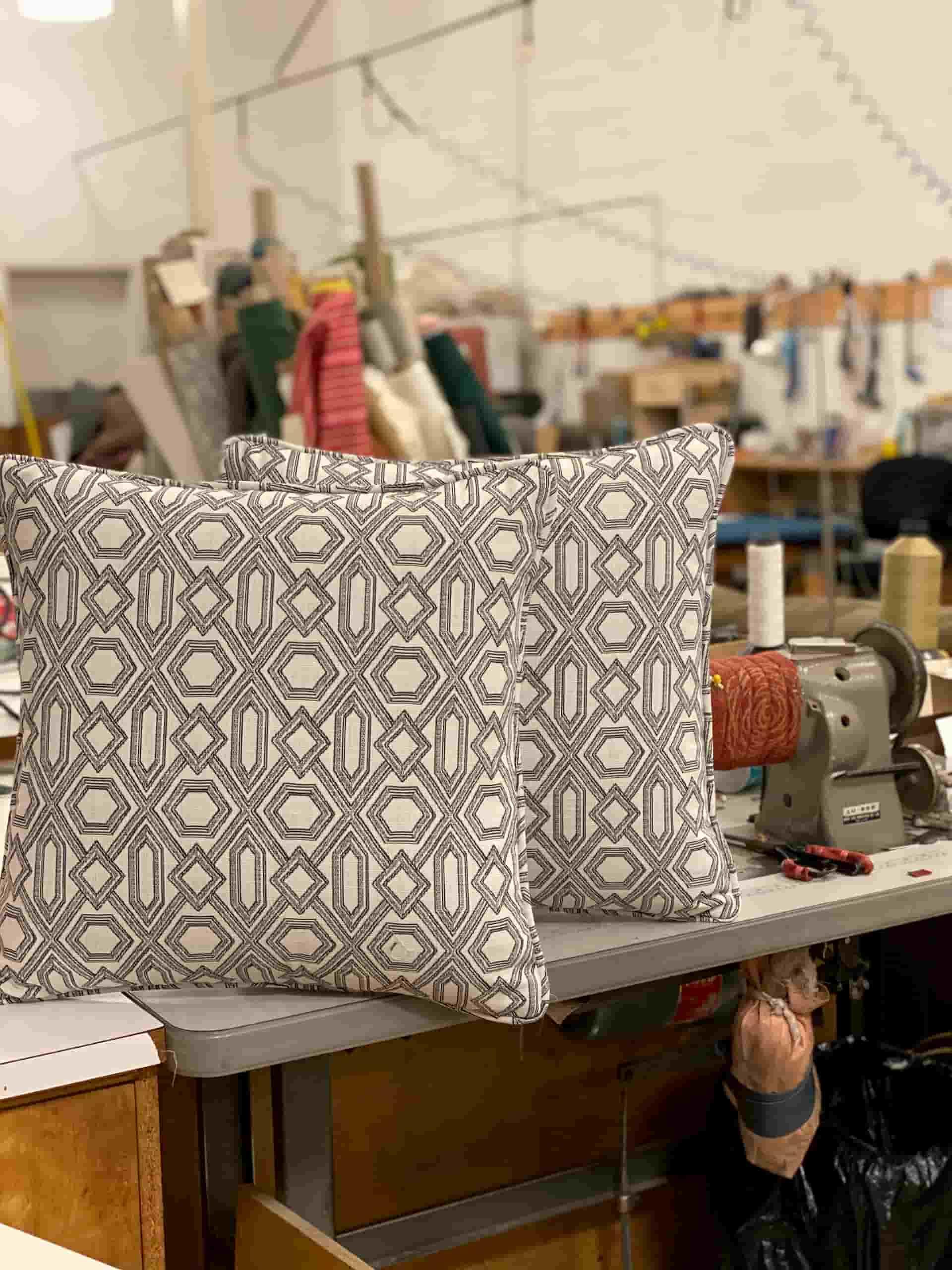 Diamond Print Pillows