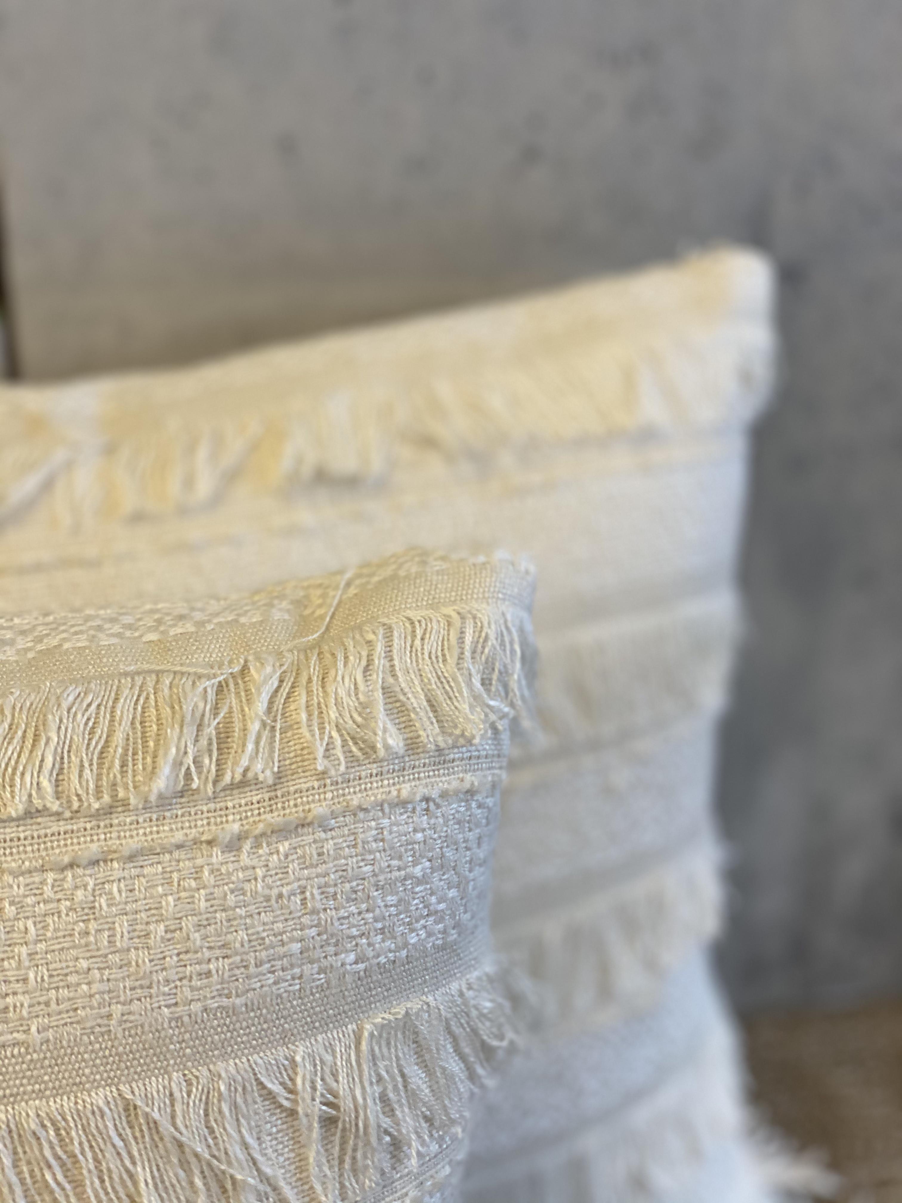 Horizontal Stripe Fringe Pillows