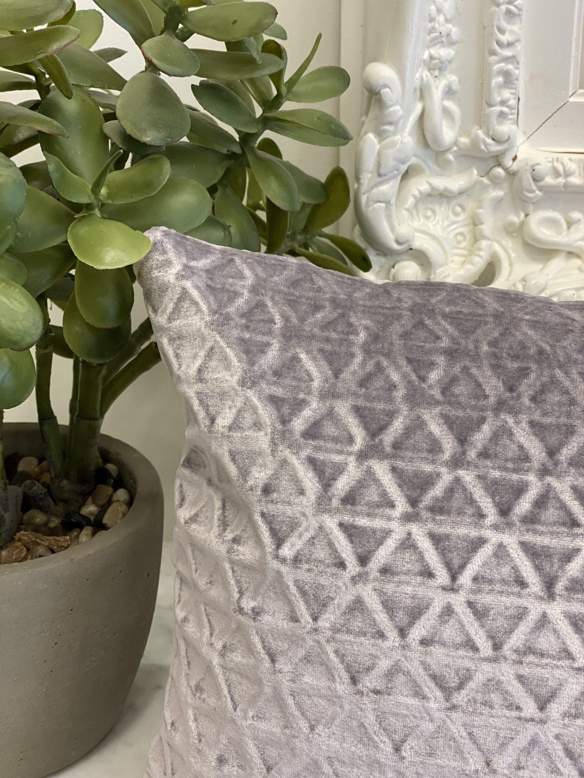 Velvet Geometric Pillow