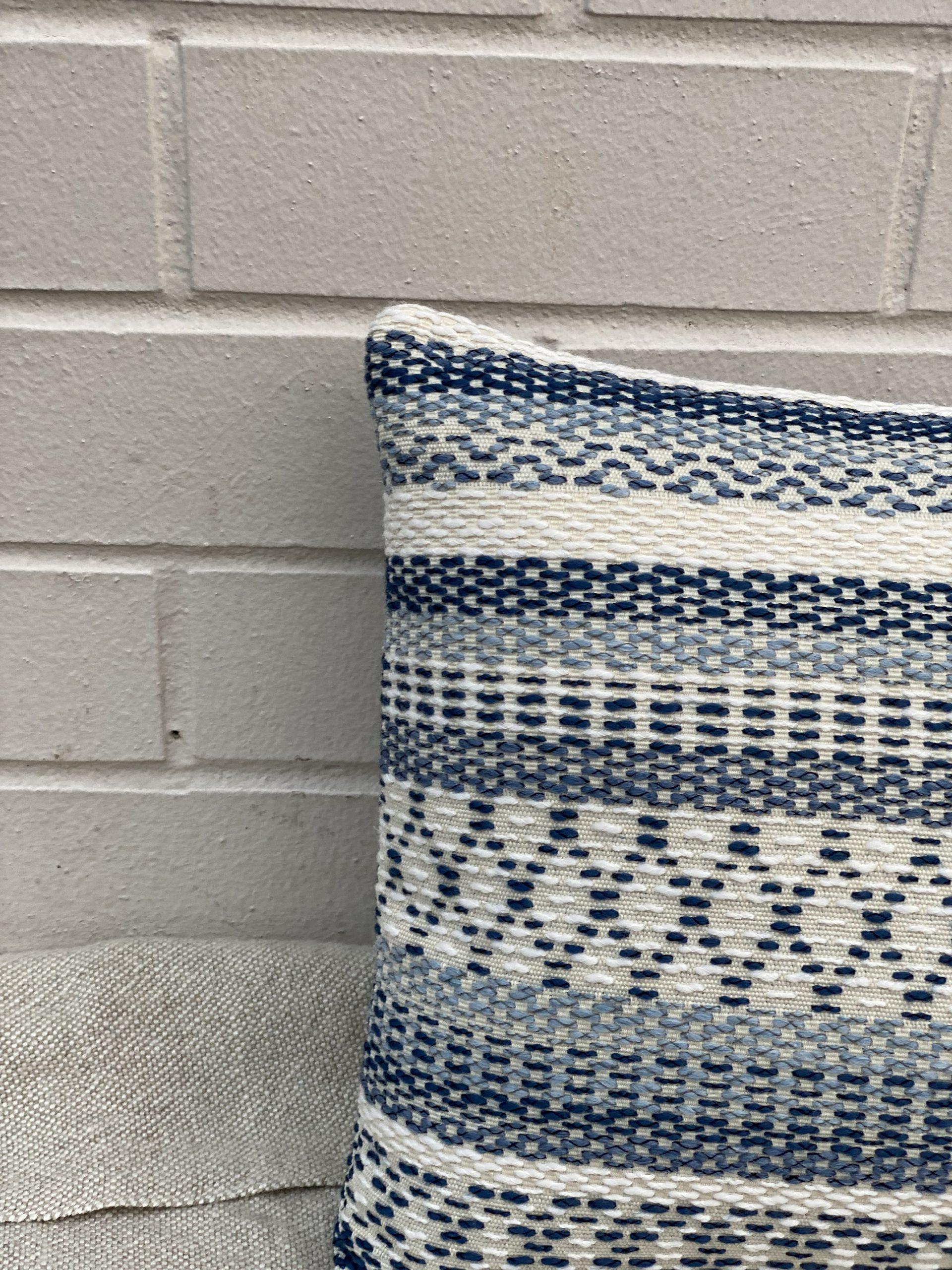 Geometric Woven Stripe Pillow