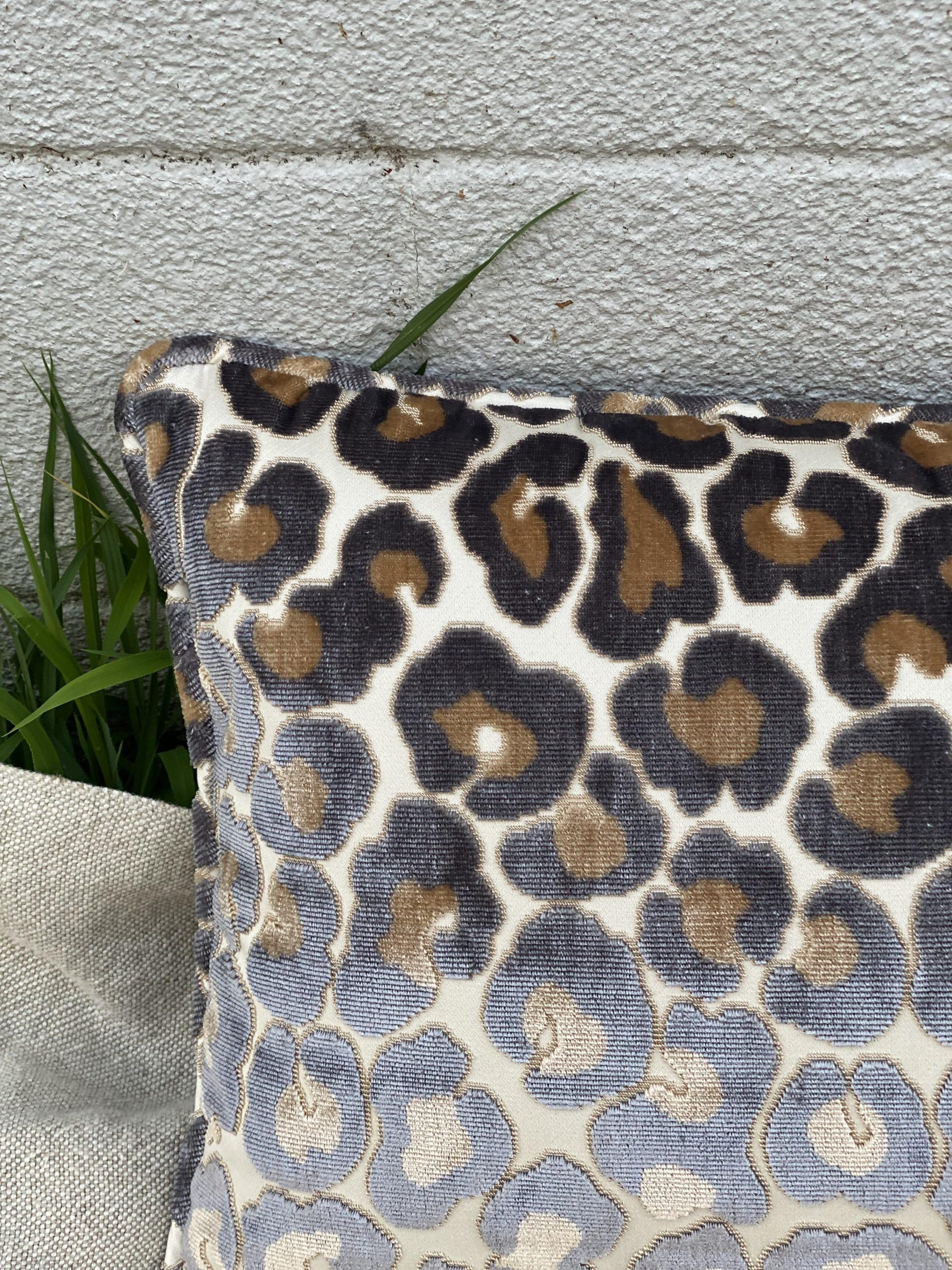 Velvet Animal Print Pillow