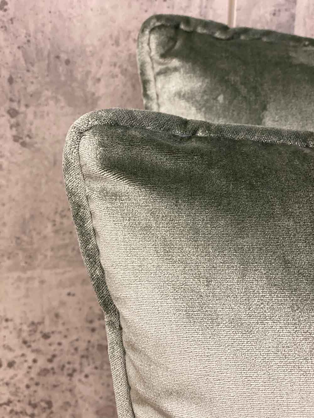 Grey Silk Velvet Blend Pillow