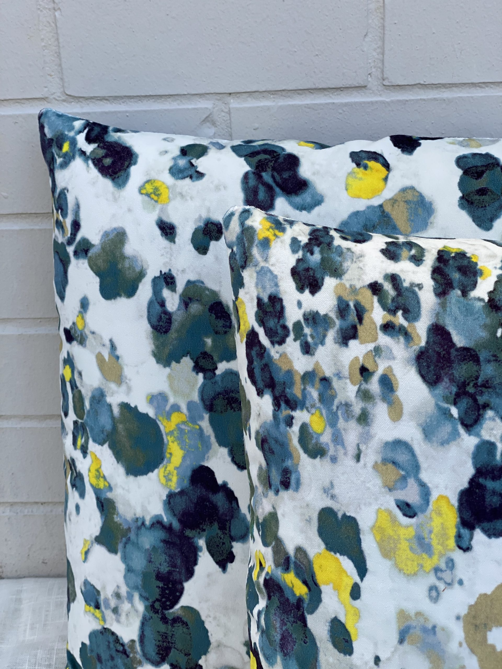 Inky Floral Pillows